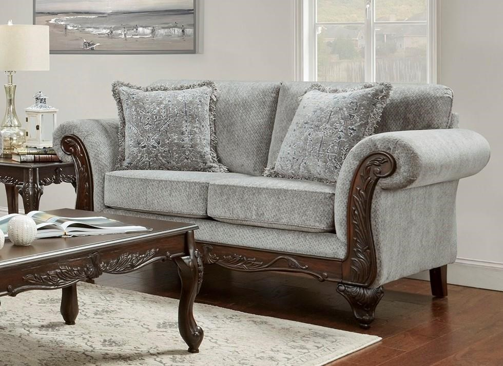 8550 Emma Upholstered Love seat by Affordable Furniture at Furniture Fair - North Carolina