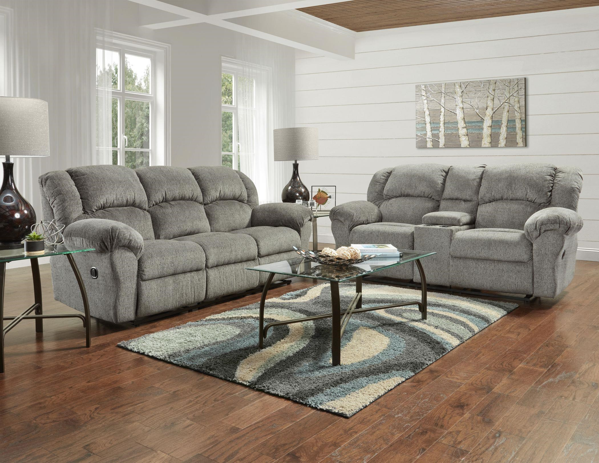 Allure Grey Reclining Loveseat by Affordable Furniture at Wilcox Furniture
