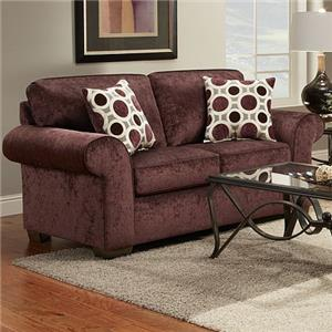 Love Seat w/ Accent Pillows