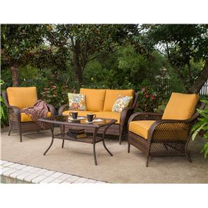 Apricity Outdoor Aruba 4 Pc. Chat Set