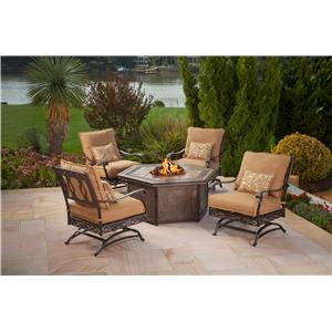 Agio Ashmost 5 Piece Firepit Chat Set