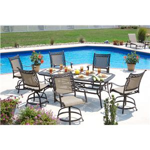 Agio Ashmost 7 Piece Outdoor Dining Set