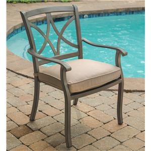Apricity Outdoor Davenport Dining Arm Chair
