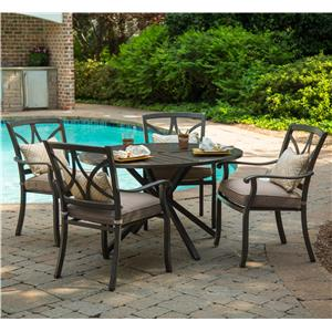 """Apricity Outdoor Davenport 48"""" Dining Table Set"""