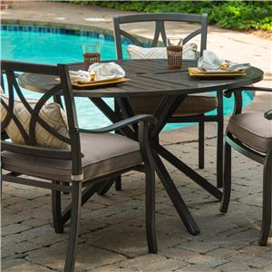 """Apricity Outdoor Davenport 48"""" Round Dining Table"""