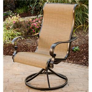 Agio Greenbrier Swivel Dining Arm Chair