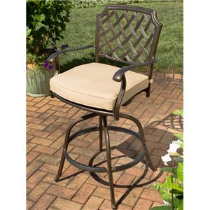 Apricity Outdoor Heritage Swivel Bar Chair w/ Seat Pad