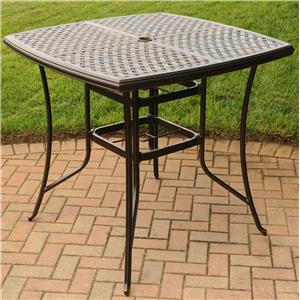 "Agio Heritage 42"" Square Top Pub Table"