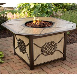 Apricity Outdoor Heritage Aluminum Gas Burning Fire Pit