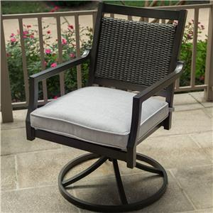 Apricity Outdoor Maddox Swivel Rocker Dining Chair