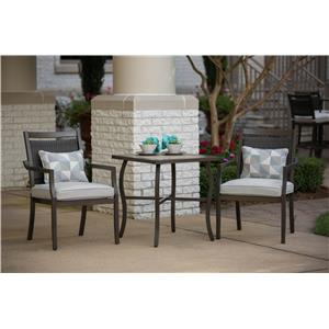 Apricity Outdoor Maddox Cafe Table and Chair Set