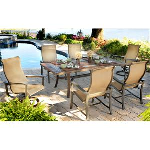Agio Majorca 7 Piece Outdoor Dining Set