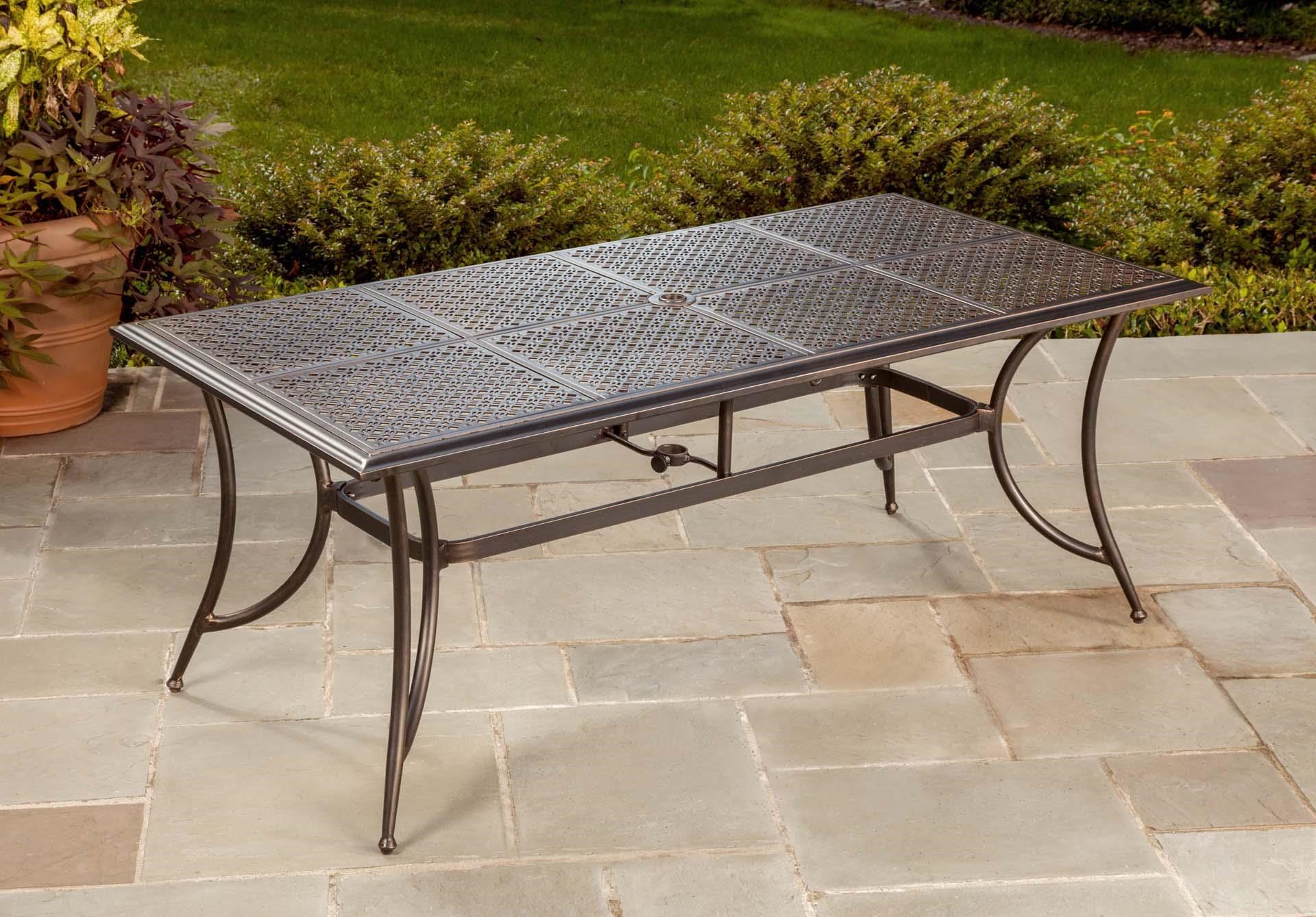 Manhattan Rectangular Dining Table by Apricity Outdoor at Johnny Janosik