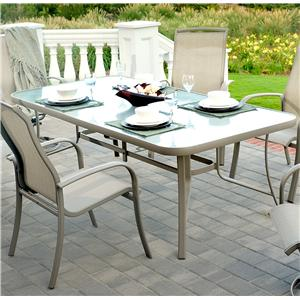 "Apricity Outdoor Monterey 3 42"" by 84"" Dining Table"