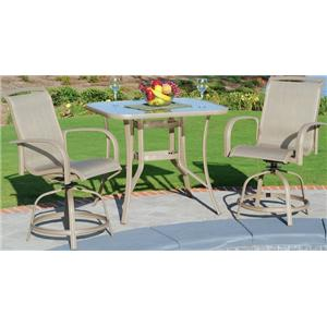 Apricity Outdoor Monterey 3 3 Piece Dining Set