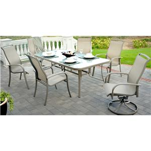 Agio Monterey 3 7 Piece Outdoor Dining Set