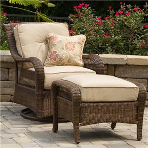 Apricity Outdoor Pinehurst Swivel Glider and Ottoman