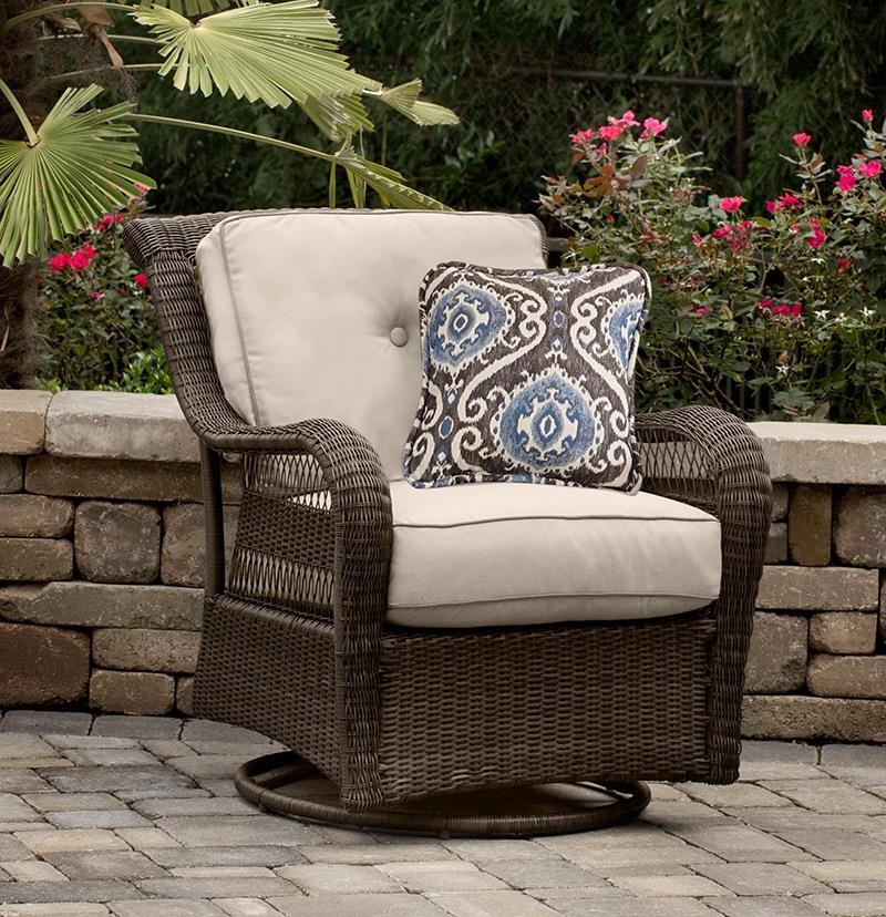 Riveria Swivel Glider w/ 1 Pillow by Apricity Outdoor at Westrich Furniture & Appliances