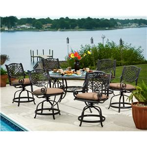 Apricity Outdoor Rochester  7-Piece Gathering Height Dining Set