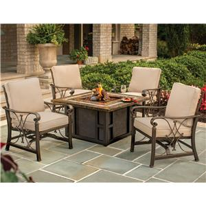 Apricity Outdoor Seville Fire Pit and Chair Set
