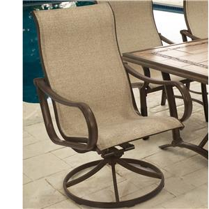 Agio Sullivan Dining Swivel Rocker Arm Chair