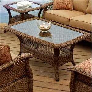 "Agio Veranda--Agio 30"" x 48"" Rectangular Woven Cocktail Table"