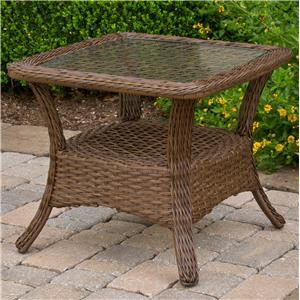 "Apricity Outdoor Veranda--Agio 27"" Square Glass Outdoor End Table"