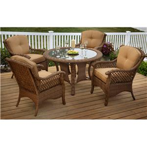 Agio Veranda--Agio 5 Piece Outdoor Dining Set