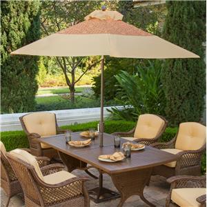 Apricity Outdoor Veranda--Agio 9 Ft. Outdoor Market Umbrella with Auto Tilt