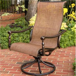 Agio willowbrook 7 pc outdoor dining set wilson 39 s for Agio sling chaise lounge