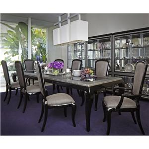 Michael Amini After Eight 9 Piece Dining Set