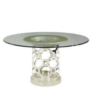Michael Amini After Eight 60 Round Glass Top Dining Table