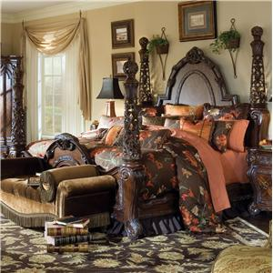Michael Amini Essex Manor King Poster Bed