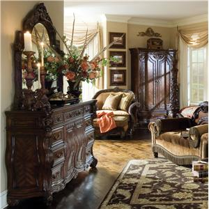 Michael Amini Essex Manor Dresser and Dresser Mirror