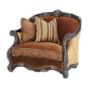 Michael Amini Essex Manor Wood Trim Chair and a Half