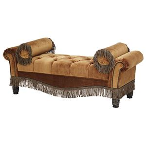 Michael Amini Essex Manor Tufted Two Arm Bench