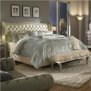 Michael Amini Hollywood Swank California King Upholstered Bed