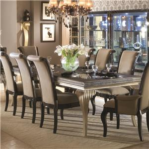 Michael Amini Hollywood Swank Leg Dining Table