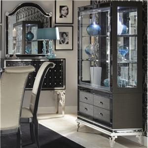 Michael Amini Hollywood Swank Curio with Drawers