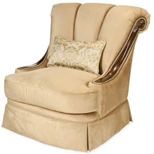 Michael Amini Imperial Court - CHPGN Wood Trim Swivel Chair