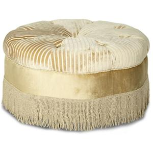 Michael Amini Imperial Court - PEARL Round Cocktail Ottoman