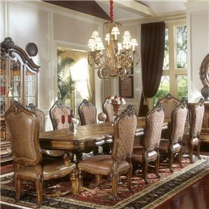 Michael Amini Tuscano Biscotti 11-Piece Leg Dining Table Set