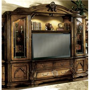 Michael Amini Tuscano Biscotti 4 Piece Entertainment Unit