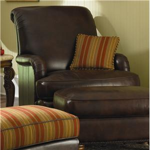 Michael Amini Tuscano Melange Leather/Fabric Club Chair