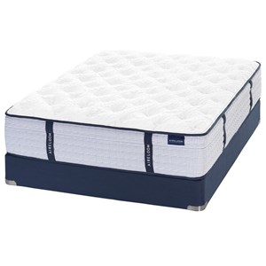 Queen Streamline™ Outer-tufted Plush Coil on Coil Mattress and V-Shaped Semi-Flex Grid Foundation