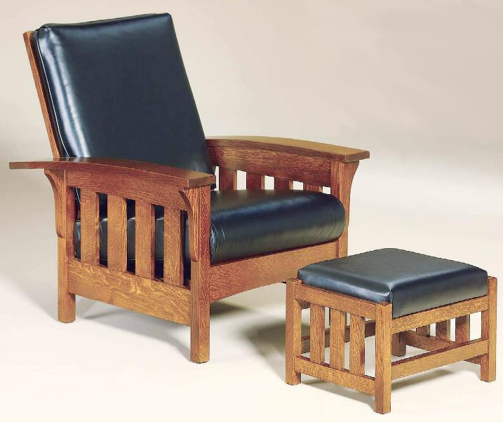 Amish Upholstery Chair & Ottoman Set by AJ's Furniture at Mueller Furniture