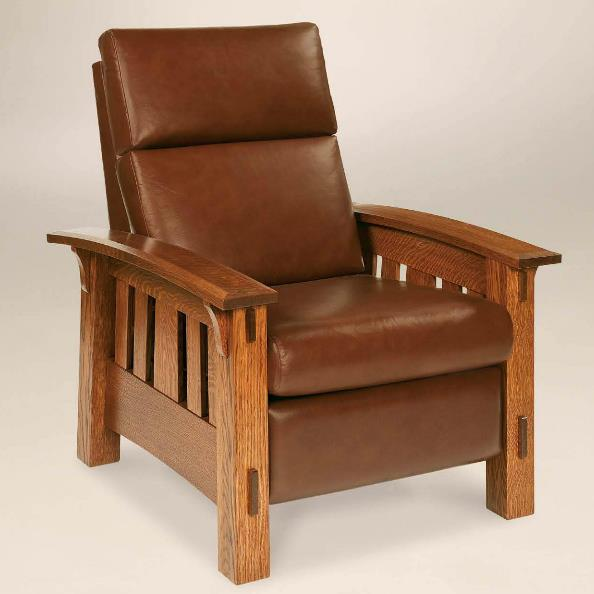 Amish Upholstery McCoy Recliner by AJ's Furniture at Dunk & Bright Furniture