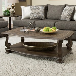 Traditional Coffee Table with Scroll Legs