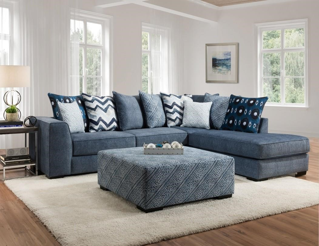 0342 TUSSAH BLUE TWO PIECE SECTIONAL by Albany at Furniture Fair - North Carolina