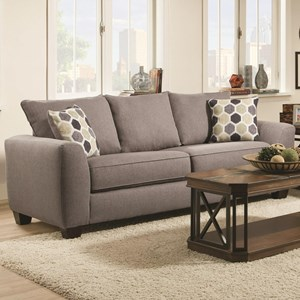 Sofa with 3 Loose Back Cushions